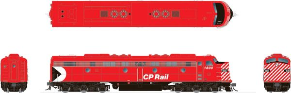 """Rapido HO Scale EMD E8 CP Rail 5"""" Stripe (Action Red) DCC Ready *Reservation*"""
