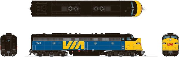 Rapido HO Scale EMD E8 Via Rail Canada DCC & Sound *Reservation*