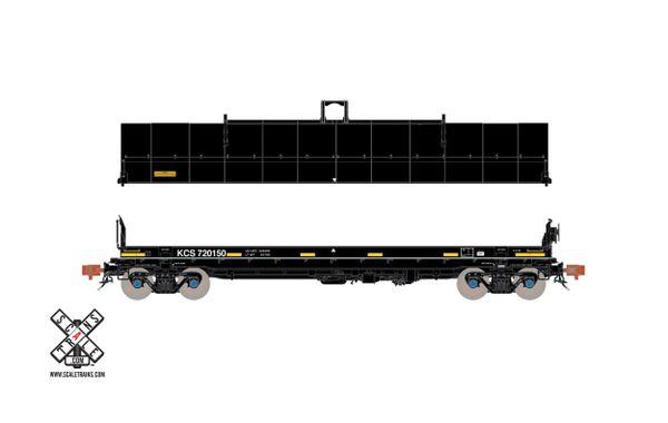 Scaletrains Rivet Counter Ho Scale Thrall-Trinity 42' Coil Steel Car Kansas City Southern (Run 2)