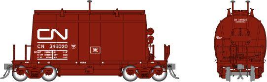 Rapido HO Scale CN (Short) Barrel Ore Hopper (6 Pack) Sets *Reservation*
