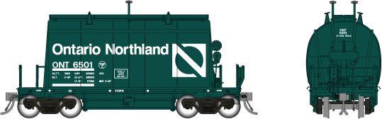 Rapido HO Scale Ontario Northland Progressive Green (Short) Barrel Ore Hopper Single Car *Reservation*