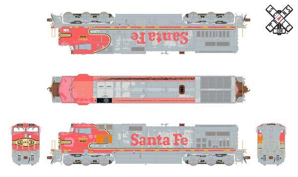Scaletrains Rivet Counter Ho Scale Dash 9-44CW BNSF/ex-Santa Fe Warbonnet Patch DCC & Sound *Reservation*