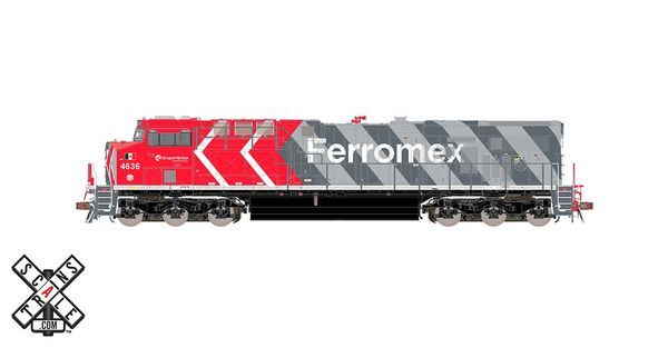 Scaletrains Rivet Counter Ho Scale ES44 Ferromex (Zebra) DCC & Sound *Reservation*