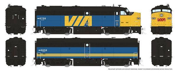 Rapido HO Scale MLW Via Rail FPA-2U / FPB-2U DCC & Sound *Reservation*