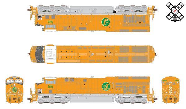 Scaletrains Rivet Counter Ho Scale ET44AC CN/ Elgin,Joliet & Eastern Heritage #3023 DCC & Sound *Reservation*