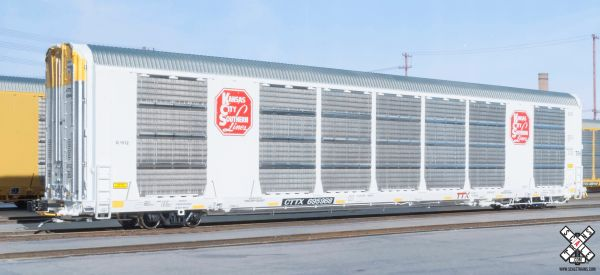 Scaletrains Rivet Counter (2nd Run) Ho Scale Gunderson Multi-Max Autorack Kansas City Southern/White/CTTX