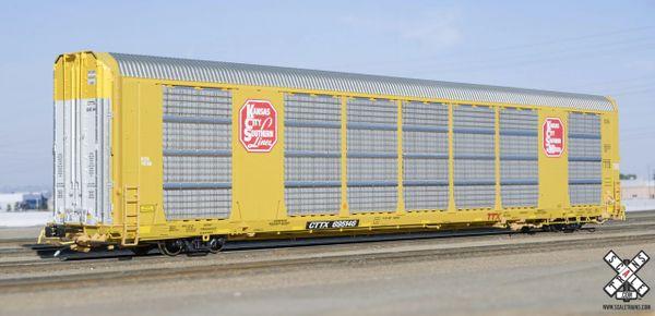 Scaletrains Rivet Counter (2nd Run) Ho Scale Gunderson Multi-Max Autorack Kansas City Southern/Yellow/CTTX