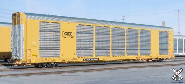 Scaletrains Rivet Counter (2nd Run) Ho Scale Gunderson Multi-Max Autorack CSX/Boxcar Logo/TTGX