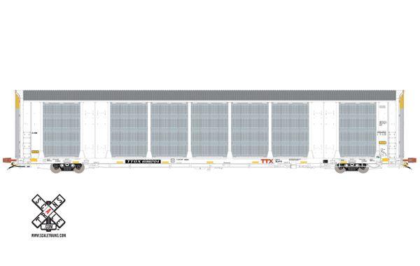 Scaletrains Rivet Counter (2nd Run) Ho Scale Gunderson Multi-Max Autorack TTX White TTGX