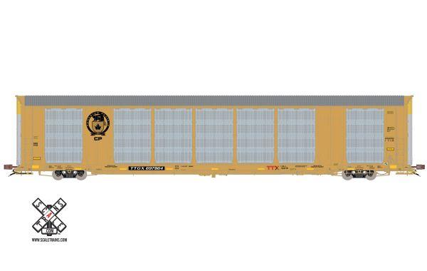 Scaletrains Rivet Counter (2nd Run) Ho Scale Gunderson Multi-Max Autorack Canadian Pacific (Beaver Logo) TTGX