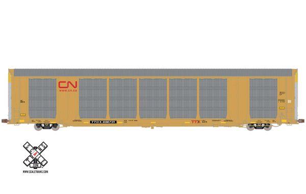 Scaletrains Operator (2nd Run) Ho Scale Gunderson Multi-Max Autorack Canadian National Red Logo