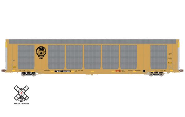 Scaletrains Operator (2nd Run) Ho Scale Gunderson Multi-Max Autorack Canadian Pacific Beaver Logo