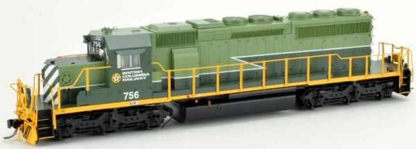 Bowser Ho Scale SD40-2 (3rd Release) BC Rail Two Tone Green Scheme DCC & Sound