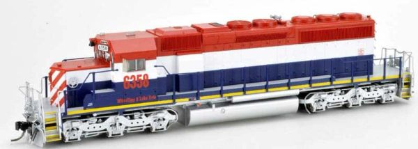 Bowser Ho Scale SD40-2 (3rd Release) Wheeling & Lake Erie (Ex BC Rail) DCC & Sound