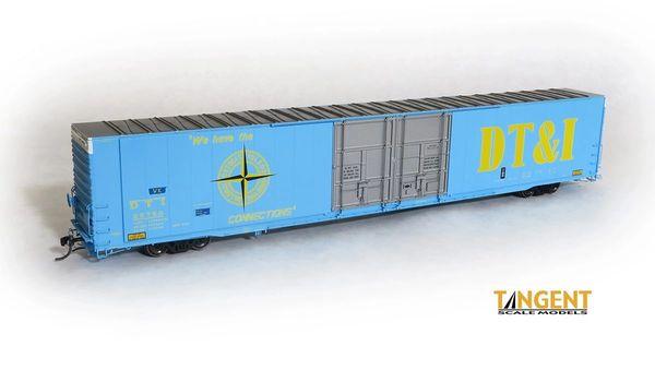 "Tangent Scale Models Ho Scale DT&I ""Original 1971"" Greenville 86′ Double Plug Door Box Car"