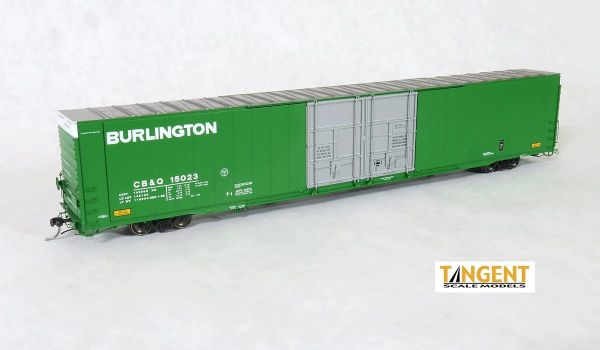 "Tangent Scale Models Ho Scale CB&Q ""Original 1-1969"" Greenville 86′ Double Plug Door Box Car"