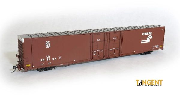 """Tangent Scale Models Ho Scale Conrail """"Quality 1992+"""" Greenville 86′ Double Plug Door Box Car"""