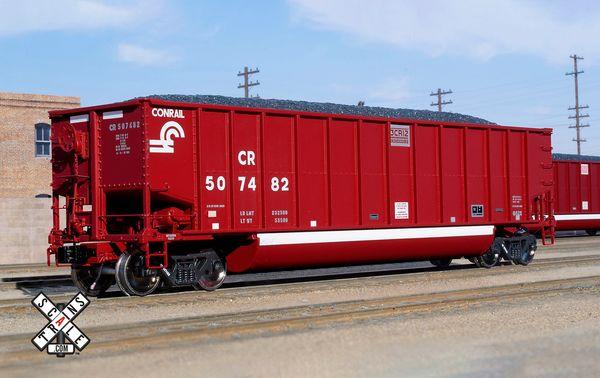 Scaletrains Rivet Counter Bethgon G52X Coal Gondola, Conrail/Oxide Red