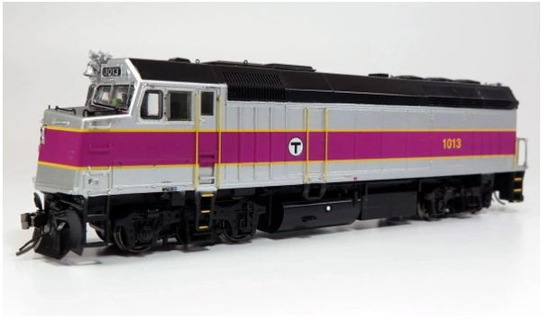Rapido Ho Scale MBTA F40PH Phase III DCC Ready