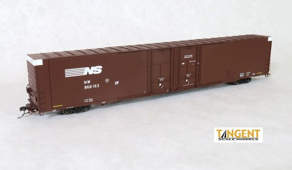 Tangent Scale Models Ho Scale Norfolk Southern (NW) B20 Repaint 1989+ Greenville 86′ Double Plug Door Box Car