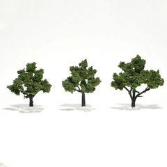 "Woodland Scenics 3-4"" Light Green Premium Trees 3/Pk"
