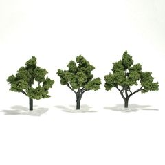 "Woodland Scenics 4-5"" Light Green Premium Trees 3/Pk"