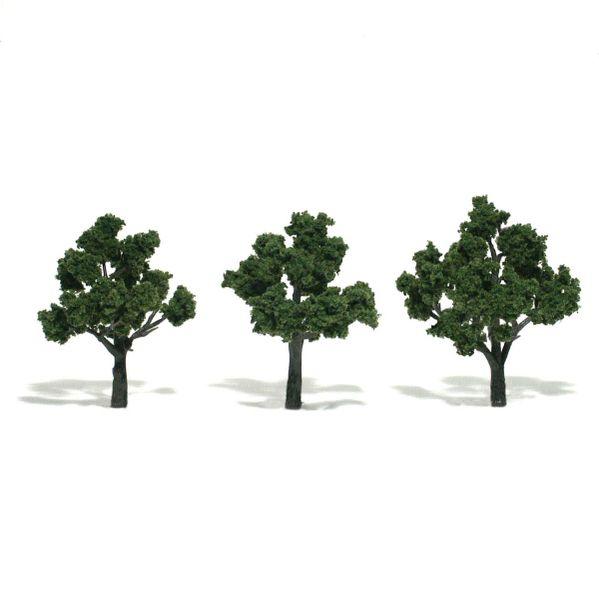 "Woodland Scenics 3-4"" Medium Green Premium Trees 3/Pk"