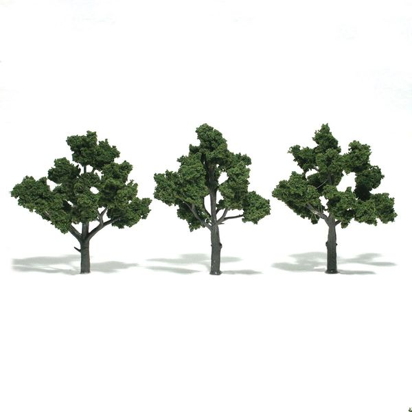 "Woodland Scenics 4-5"" Medium Green Premium Trees 3/Pk"