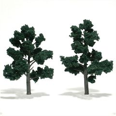 "Woodland Scenics 5-6"" Dark Green Premium Trees 2/Pk"