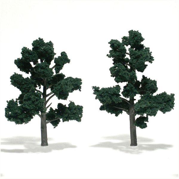 "Woodland Scenics 5-6"" Dark Green Premium Trees 2/Pk"