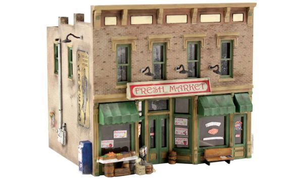 Woodland Scenics HO Scale Fresh Market Building Kit