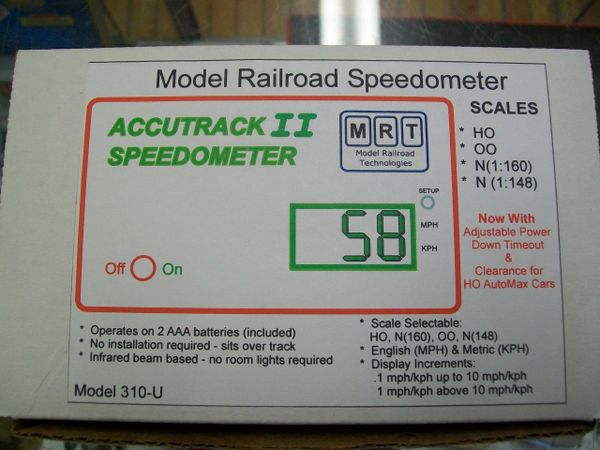 Model Railroad Speedometer Accutrack II
