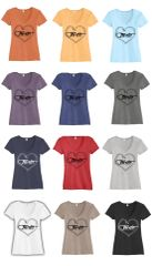 Forte Heart Alternative® The Keepsake V-Neck Vintage 50/50 Tee