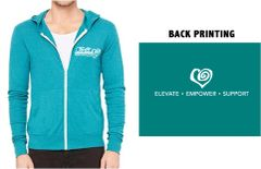 Forte / Elevate-Empower-Support Unisex Triblend Full Zip Lightweight Hoodie