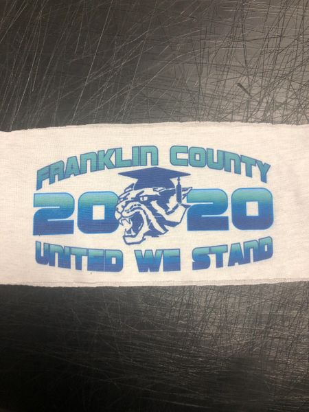 Franklin County Class of 2020 face cover (7 PACK)