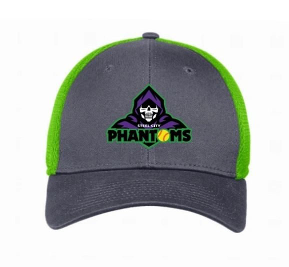 Steel City Phantoms New Era Cyber Green Hat