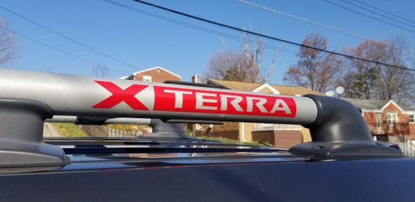 Gen 2 Xterra Roof Rack Logo Vinyl Overlays