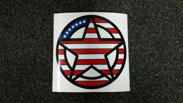 freedom star black background