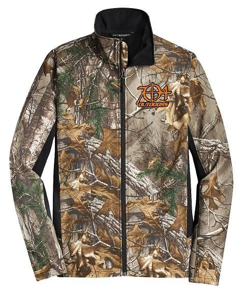 704 Outdoors Camouflage Colorblock Softshell Jacket