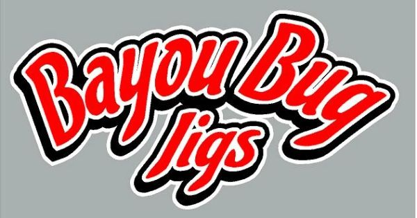 Bayou Bug Jigs Text Logo Decal