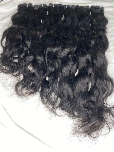 Black Remy wavy hair