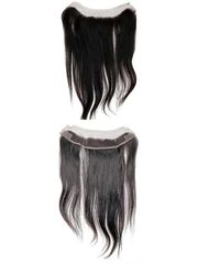 "Lace Frontal Brazilian Natural Curl 12"" Natural Black Virgin Hair"