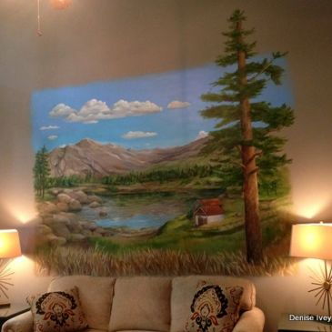 Wall mural of ancestral home