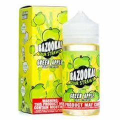 Green Sour Apple Straws by Bazooka
