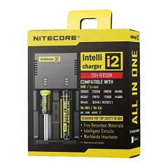 NITECORE I2 VAPE BATTERY CHARGER (TWO BAY)