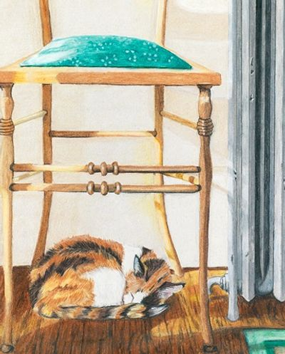"""Her Favorite Place"" by Victoria Twomey Colored Pencil on Paper"