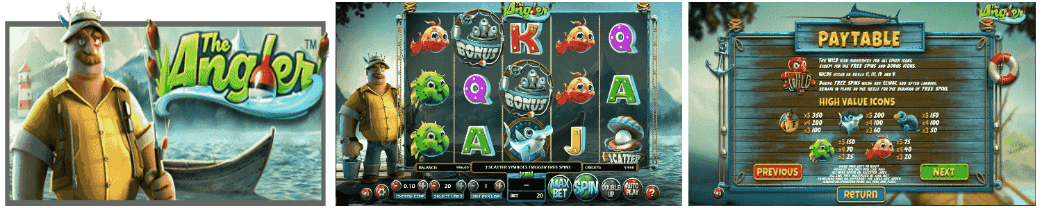The Angler Video Slots Review