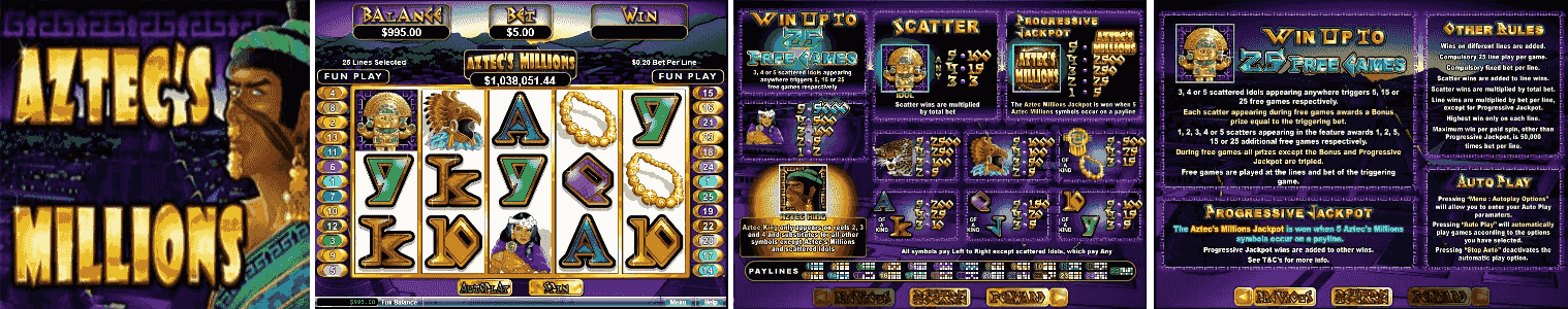 Aztec's Millions Video Slots Review