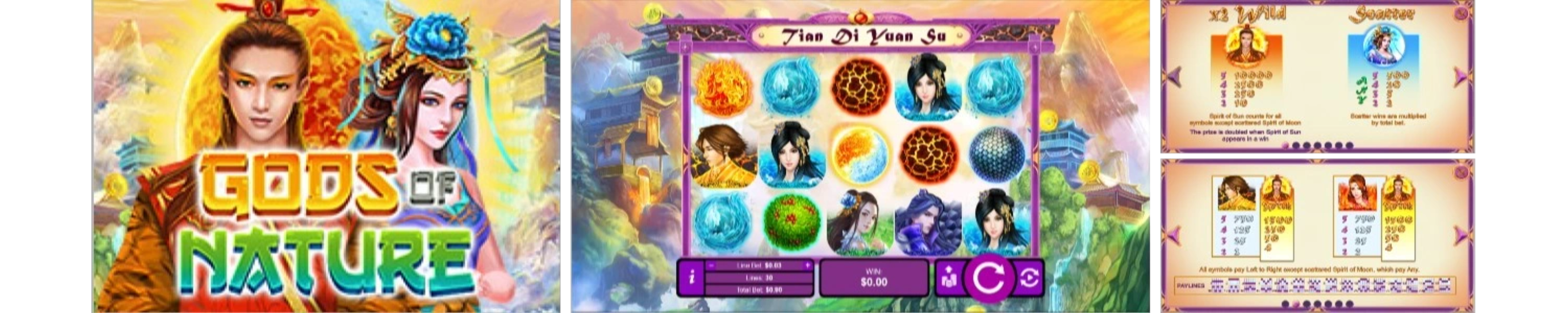 Gods of Nature Video Slots Review