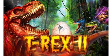 T-Rex II free online video slots at Uptown Aces real money online casino for Australian players
